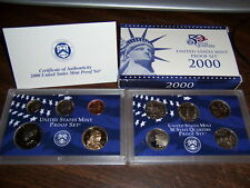 2000S 10 COIN PROOF SET FROM A HUGE HOARD OFGOVT. BOXES