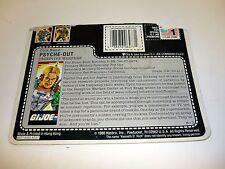 GI JOE PSYCHE OUT FILE CARD Vintage Action Figure HALF CUT / GREAT SHAPE 1987