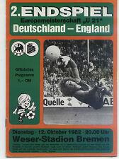 U 21 EM-Finale 12.10.1982 Deutschland - England in Bremen
