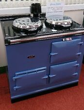 Aga Cooker - Fully Refurbished Two Oven 13 amp Aga in Wedgewood Blue with Chrome