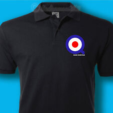Quadrophenia - SKA SCOOTER Mod Bullseye Polo Shirt THE WHO Mens unisex T SHIRT