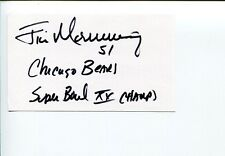 Jim Morrissey 1985 Super Bowl Chicago Bears Michigan State Signed Autograph
