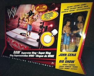 WWE Raw Superstar Ring Playset w/ JOHN CENA & BIG SHOW Figure