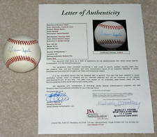 Warren Spahn Signed Baseball JSA COF Hall of Famer