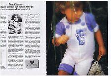 PUBLICITE ADVERTISING 044 1982 CLAYEUX vêtements pour Bébé (2 pages)