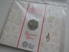2017 Beatrix Potter Benjamin Bunny 50p BU pack. Sealed/Mint