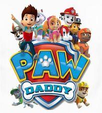 ::::::::::::::::::::::::PAW PATROL DADDY::::::::::::::::: SHIRT IRON ON TRANSFER