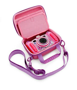 Pink Toy Camera Case for VTech Kidizoom Camera, Case Only with Purple Strap