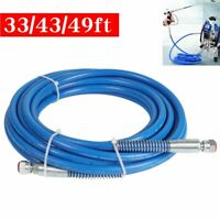 "Airless Paint Spray Hose 3300PSI Sprayer Light Flexible Fiber 1/4"" Tube Tools"