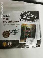 Wilko Mini Greenhouse Replacement PVC Cover ~ Clear ~ 50 (w) 130 (h) 37 (d)