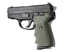 Hogue Grip For Sig Sauer P239 - Rubber Finger Groove OD Green 31001