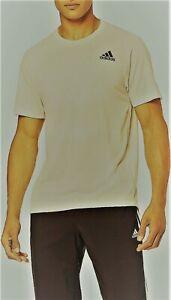 Adidas Men's FreeLift Tech Aeroknit Graphic T-Shirt Ivory/Grey XS S M XL