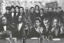 Gangsters - Godfather Goodfellas Sopranos Scarface Poster, size 24x36