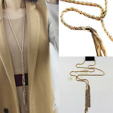 Vintage Style Pebble Necklace Long Design Necklaces Long Chain Fashion Jewelry