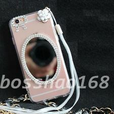 Glitter Luxury Bling Diamonds Soft TPU Gel Shell back Case Cover with strap #11
