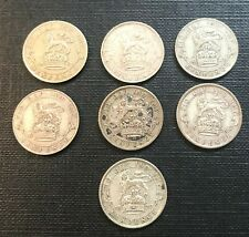 More details for  date run of 7x king george v silver sixpences 1921/22/23/24/25/26/27 nice lot