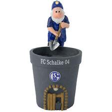FC Schalke 04 Blumentopf Zwerg S04 Gartenzwerg Bergmann FC Schalke 04 Logo