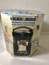 Black & Decker Lids Off Automatic Jar Opener Black New
