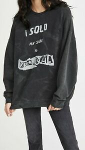 BNWT R13 I Sold My Soul Oversized Crew Neck Sweatshirt Size S M L