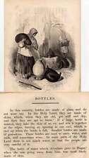 JUDAIKA-Judaica-canette-Juifs - Jews Gravure sur bois 1840