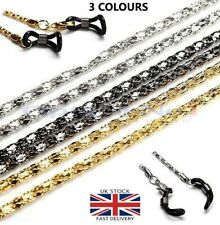 Glasses Holder Necklace Metal Chain Thick Braided Link dg-00612-3c -60cm- No1