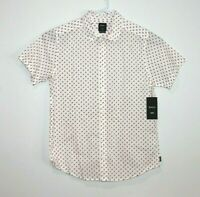 RVCA Button Up Short Sleeve Slim Fit Shirt Men's Size Medium BNWT
