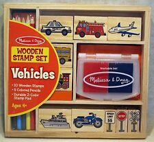 Melissa & Doug Wooden Stamp Set-Vehicles (#2409)