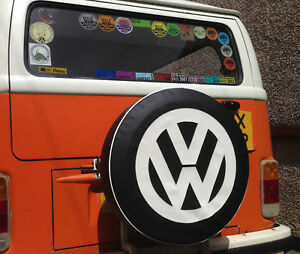 Madmatz Quality Volkswagen VW T2 BAY Window Spare Wheel cover Slate Black