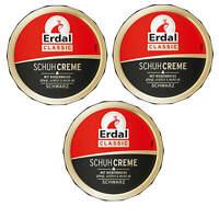 3x Erdal Classic Schuhcreme DOSE Schwarz mit Bienenwachs pflegt glänzt & schützt