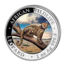 SOMALIE 100 Shillings Argent 1 Once Léopard 2021 Colorisée - Wildlife