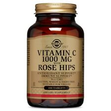 Solgar Vitamin C 1000 mg with Rose Hips - 100 Tablets FRESH, FREE SHIPPING