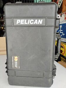 PELICAN 1510 Black Carry Case & Lid Pocket Mesh Organizer And Padded Divider Set