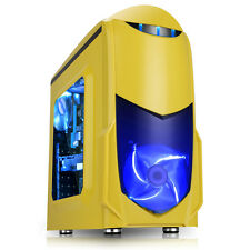 Game Max Nero Mid Tower USB3 Windowed PC Gaming Case Yelllow Blue