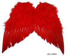 Mini ali rosse da diavolo in piuma cm 35x32