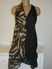 Collection Eighteen black leopard swim swimsuit cover up dress-XS/S-NWT-$48