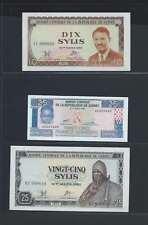 Guinée Lot de 3 billets différents  en état NEUF   Lot N° 3