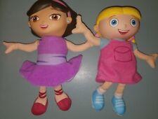 """Lot LITTLE EINSTEINS TALKING SINGING ANNIE + June Plush Body Vinyl Head 8""""  Doll"""
