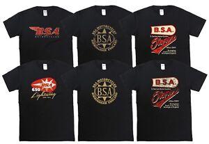 BSA Motorcycle T Shirts Classic Retro Biker Designs Cafe Racer