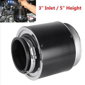 "3"" Inlet/5""H Carbon Fiber Style Hi-Flow Air Filter For Cold Air/Short Ram Intake"