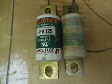 Reliance Rectifier Fuse RFV125 125A 125 A Amp Lot of 2 Used