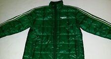 Adidas Original Sport Green Puffy Jacket Mens M Trefoil Rare