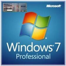 Windows 7 PROFESSIONAL ORIGINALE 32/64 Bit RAM HDD con PC Versione Completa di scarto COA
