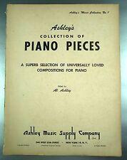 ANCIEN LIVRE PARTITIONS DE MUSIQUE / PIANO PIECES ASHLEY MUSIC