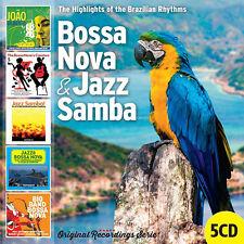 AA.VV. BOSSA NOVA & JAZZ SAMBA The highlights of Brazilian rhythms  5CD beat pop