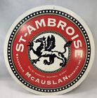 "St. Ambroise Beer Sign Cardboard 2 sided McAuslan Ale 15"" Montreal Quebec"