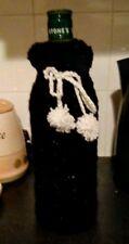 handmade wine bottle cover  black sparkly gift idea birthday/valentines day