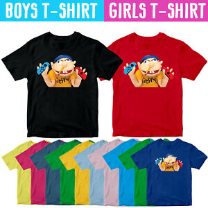 Jeffy Puppet With Switch Kids T Shirt Youtuber Boy Girl Children Cartoon Tee Top