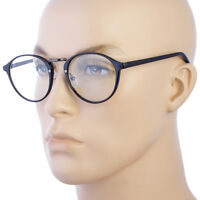 Retro Vintage Style Clear Lens Eye Glasses Hipster Cool Nerd Smart Oval Round US