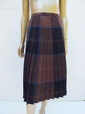 Vintage Plaid Check Wool Midi Straight Pleat Dress Skirt by Mister Leonard