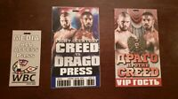 Creed 2 Production Used Fight Pass Press/VIP Set CREED vs DRAGO Movie Props